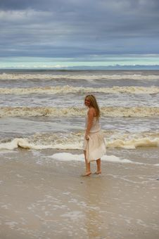 Free Stormy Beach Stock Photography - 3991752