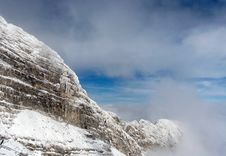 Free Mountain In Snow Royalty Free Stock Photo - 3991845