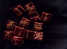 Free Red Present Decorations Stock Photo - 3992260