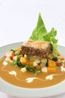 Free Meatloaf Meal Royalty Free Stock Photos - 3992768