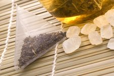 Free White Tea, Nylon Tea-bag And Sugar Stock Photo - 3992920