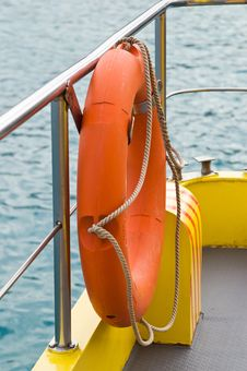Free Life Rescue Ring Buoy On Shipboard Royalty Free Stock Photography - 3993727