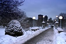 Free Boston Winter Stock Image - 3993771
