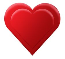 Free Red 3D Heart Royalty Free Stock Photo - 3994155