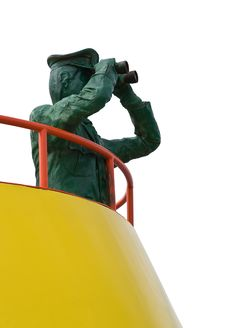Free Captain On Board Figure Cutout Stock Photography - 3994302
