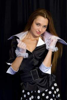 Free The Girl In Gloves Stock Image - 3994441