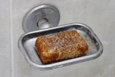Toilet Soap With Seeds. Stock Image