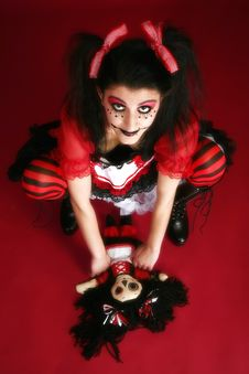 Free Beautiful Middle Eastern Goth Doll Stock Image - 3995531