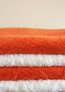 Free Stack Of Color Towels Stock Photos - 3995673