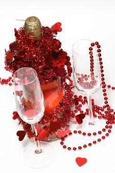 Free Valentine Champagne Royalty Free Stock Photo - 3996515