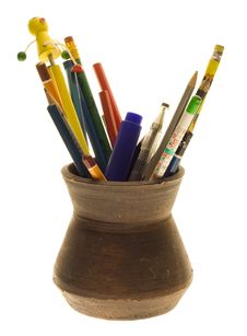 Free Pencils In The Jug Stock Photo - 3996720