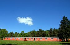 Red Blockhouse Stock Photography