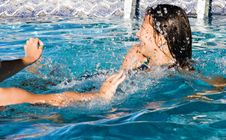 Free Playing In The Pool 2 Royalty Free Stock Images - 3997039