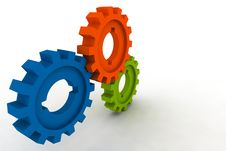 Free Isolated Cogwheels Stock Images - 3997264
