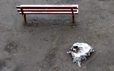 Free Winter Bench. Stock Photo - 3997950