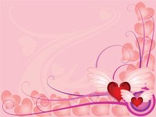 Free Valentine Hearts In Pink Royalty Free Stock Images - 3998339
