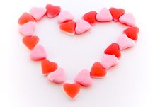 Free Heart Shaped Heart Candys Royalty Free Stock Photos - 3998428