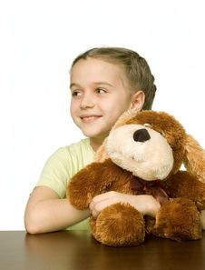 Free Pretty Girl With Toys Stock Photography - 3998442