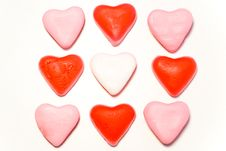 Free Close Up Red And Pink Candy Hearts In Square Stock Photos - 3998653