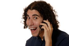 Free Young Man On Mobile Phone Stock Photo - 3998840