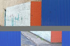 Free Painted Wall With Graffiti Stock Image - 3999081