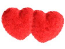 Free Fur Hearts Stock Image - 3999221