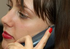 Pretty Girl On The Phone Royalty Free Stock Photos