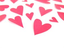Free Paper Hearts Stock Photography - 3999522