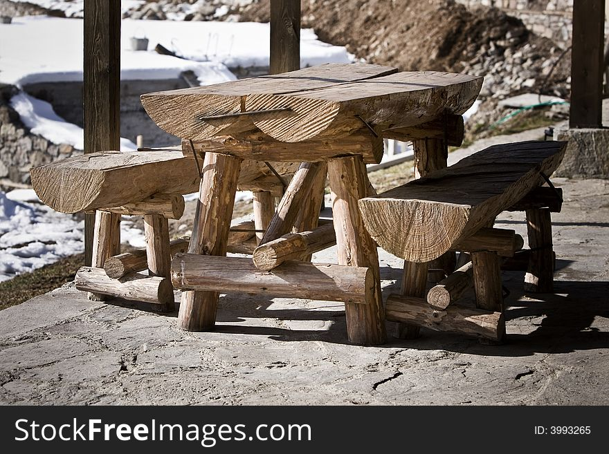 Table with two benches