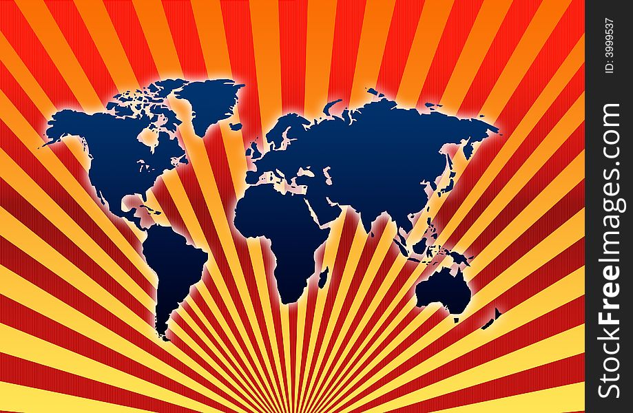 Rising World map