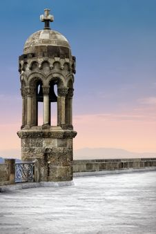 Free Bell Tower On Top Of Tibidabo Mountain Stock Image - 39930771