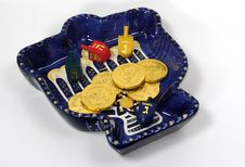 Free Chanukah Bowl 2 Royalty Free Stock Images - 40709