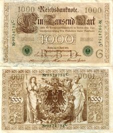 Free Old German Money 1 Stock Photography - 41302