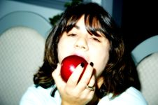Eating A Apple Stock Photography
