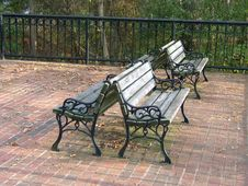 Free Park Benches Royalty Free Stock Photography - 44477