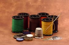 Sewing Items 2 Royalty Free Stock Images