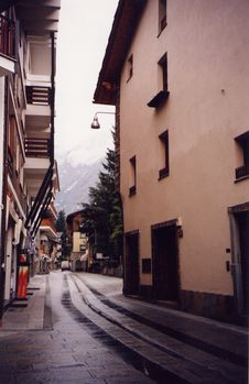 Free One Way Street -Val D Aosta, Italy Stock Image - 45091
