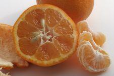 Mandarin Orange Peel Stock Photo
