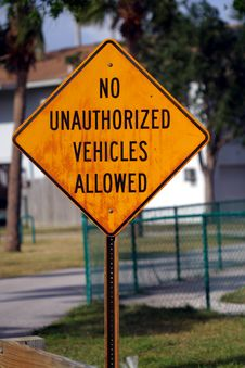 Free No Unauthorized Vehicles Stock Images - 48134