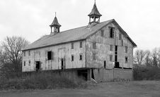 Large Barn In Black And White Stock Images