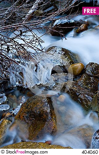 Free Icy Stream Stock Photo - 404060