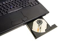 Free Latop With Open CD-ROM Drive Stock Photos - 402283