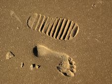 Free Footprints Royalty Free Stock Photography - 404407