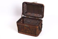 Rattan Box 6 Royalty Free Stock Photo