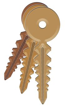 Free Three Keys (Cascade) Stock Images - 406334