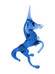 Free Blue Glass Unicorn Stock Photography - 407712