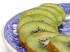 Kiwi Slices On A Plate Royalty Free Stock Image