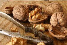 Walnuts And Nutcracker Royalty Free Stock Photo