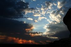 Free Sunset In The Desert Stock Photography - 409962