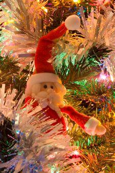 Free Christmas Tree Santa Royalty Free Stock Photography - 409997